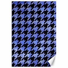 Houndstooth1 Black Marble & Blue Watercolor Canvas 20  X 30  by trendistuff