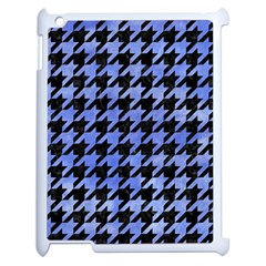 Houndstooth1 Black Marble & Blue Watercolor Apple Ipad 2 Case (white) by trendistuff