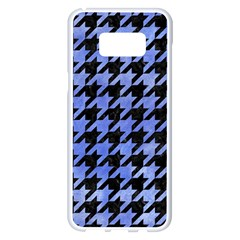 Houndstooth1 Black Marble & Blue Watercolor Samsung Galaxy S8 Plus White Seamless Case
