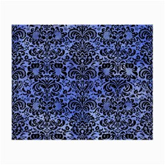 Damask2 Black Marble & Blue Watercolor (r) Small Glasses Cloth (2 Sides) by trendistuff