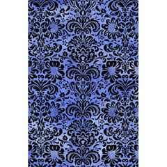 Damask2 Black Marble & Blue Watercolor (r) 5 5  X 8 5  Notebook by trendistuff