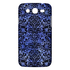 Damask2 Black Marble & Blue Watercolor (r) Samsung Galaxy Mega 5 8 I9152 Hardshell Case  by trendistuff