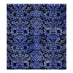 Damask2 Black Marble & Blue Watercolor Shower Curtain 66  X 72  (large) by trendistuff