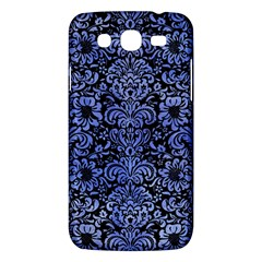 Damask2 Black Marble & Blue Watercolor Samsung Galaxy Mega 5 8 I9152 Hardshell Case  by trendistuff