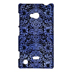 Damask2 Black Marble & Blue Watercolor Nokia Lumia 720 Hardshell Case by trendistuff