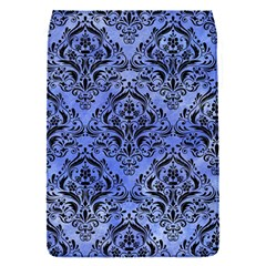 Damask1 Black Marble & Blue Watercolor (r) Removable Flap Cover (s) by trendistuff