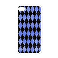 Diamond1 Black Marble & Blue Watercolor Apple Iphone 4 Case (white) by trendistuff
