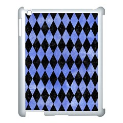 Diamond1 Black Marble & Blue Watercolor Apple Ipad 3/4 Case (white) by trendistuff