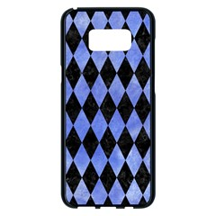 Diamond1 Black Marble & Blue Watercolor Samsung Galaxy S8 Plus Black Seamless Case by trendistuff