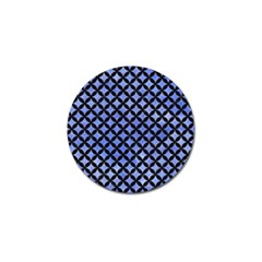 Circles3 Black Marble & Blue Watercolor (r) Golf Ball Marker by trendistuff
