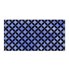 Circles3 Black Marble & Blue Watercolor (r) Satin Wrap by trendistuff
