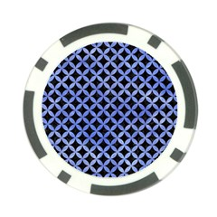 Circles3 Black Marble & Blue Watercolor Poker Chip Card Guard (10 Pack) by trendistuff
