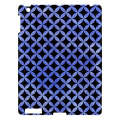 Circles3 Black Marble & Blue Watercolor Apple Ipad 3/4 Hardshell Case by trendistuff