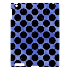 Circles2 Black Marble & Blue Watercolor (r) Apple Ipad 3/4 Hardshell Case by trendistuff