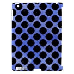 Circles2 Black Marble & Blue Watercolor (r) Apple Ipad 3/4 Hardshell Case (compatible With Smart Cover) by trendistuff