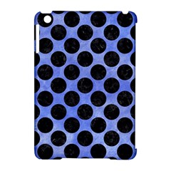 Circles2 Black Marble & Blue Watercolor (r) Apple Ipad Mini Hardshell Case (compatible With Smart Cover) by trendistuff