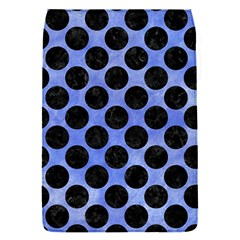 Circles2 Black Marble & Blue Watercolor (r) Removable Flap Cover (s) by trendistuff