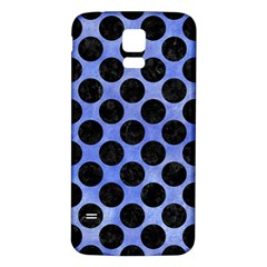 Circles2 Black Marble & Blue Watercolor (r) Samsung Galaxy S5 Back Case (white) by trendistuff
