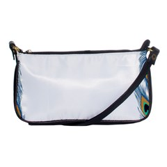 Beautiful Frame Made Up Of Blue Peacock Feathers Shoulder Clutch Bags by Nexatart