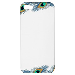 Beautiful Frame Made Up Of Blue Peacock Feathers Apple Iphone 5 Hardshell Case