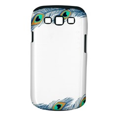 Beautiful Frame Made Up Of Blue Peacock Feathers Samsung Galaxy S Iii Classic Hardshell Case (pc+silicone) by Nexatart