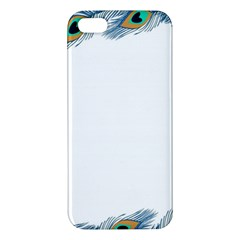 Beautiful Frame Made Up Of Blue Peacock Feathers Apple Iphone 5 Premium Hardshell Case
