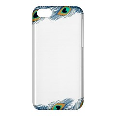 Beautiful Frame Made Up Of Blue Peacock Feathers Apple Iphone 5c Hardshell Case