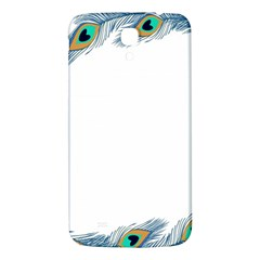 Beautiful Frame Made Up Of Blue Peacock Feathers Samsung Galaxy Mega I9200 Hardshell Back Case by Nexatart