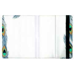 Beautiful Frame Made Up Of Blue Peacock Feathers Apple Ipad Pro 9 7   Flip Case by Nexatart