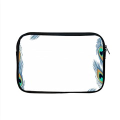 Beautiful Frame Made Up Of Blue Peacock Feathers Apple Macbook Pro 15  Zipper Case