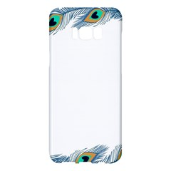 Beautiful Frame Made Up Of Blue Peacock Feathers Samsung Galaxy S8 Plus Hardshell Case  by Nexatart