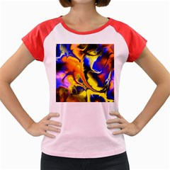 Fractal Art Pattern Cool Women s Cap Sleeve T Shirt