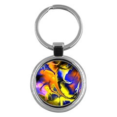 Fractal Art Pattern Cool Key Chains (round)