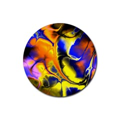 Fractal Art Pattern Cool Rubber Coaster (round)
