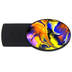 Fractal Art Pattern Cool Usb Flash Drive Oval (4 Gb) by Nexatart