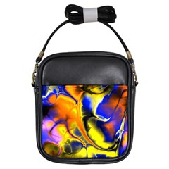 Fractal Art Pattern Cool Girls Sling Bags by Nexatart