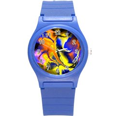 Fractal Art Pattern Cool Round Plastic Sport Watch (s)