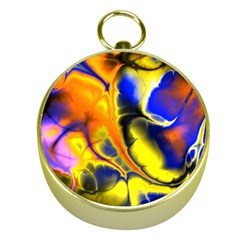 Fractal Art Pattern Cool Gold Compasses by Nexatart