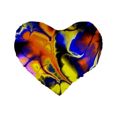 Fractal Art Pattern Cool Standard 16  Premium Flano Heart Shape Cushions by Nexatart