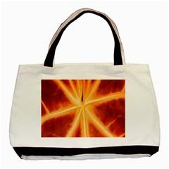 Red Leaf Macro Detail Basic Tote Bag by Nexatart