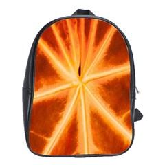 Red Leaf Macro Detail School Bags(large)  by Nexatart