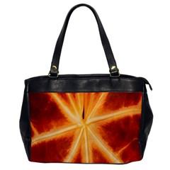 Red Leaf Macro Detail Office Handbags by Nexatart