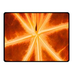 Red Leaf Macro Detail Fleece Blanket (small) by Nexatart