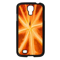 Red Leaf Macro Detail Samsung Galaxy S4 I9500/ I9505 Case (black) by Nexatart