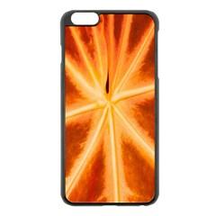 Red Leaf Macro Detail Apple Iphone 6 Plus/6s Plus Black Enamel Case by Nexatart