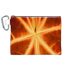 Red Leaf Macro Detail Canvas Cosmetic Bag (xl) by Nexatart