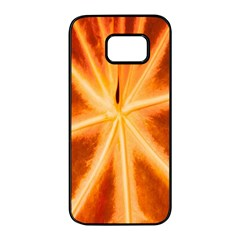 Red Leaf Macro Detail Samsung Galaxy S7 Edge Black Seamless Case by Nexatart