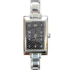 Abstract Architecture Pattern Rectangle Italian Charm Watch by Nexatart
