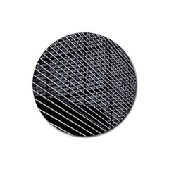 Abstract Architecture Pattern Rubber Round Coaster (4 Pack)