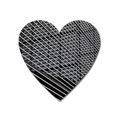 Abstract Architecture Pattern Heart Magnet by Nexatart